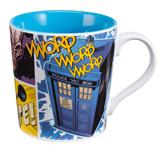 Doctor Who Dangerous Creatures White/Blue Base 12oz Ceramic Mug