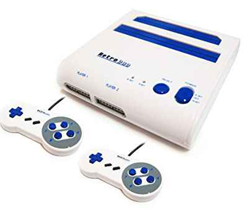 Retro Duo NES/SNES System White/Blue