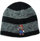 Nintendo Mario and Enemies Line Art Beanie