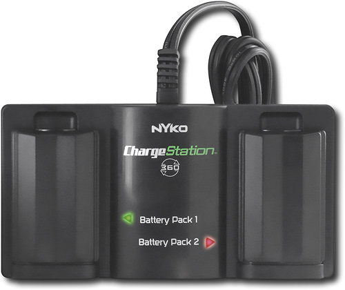 Xbox 360 Charge Station w/ 2 Free Batteries by Nyko (Black)