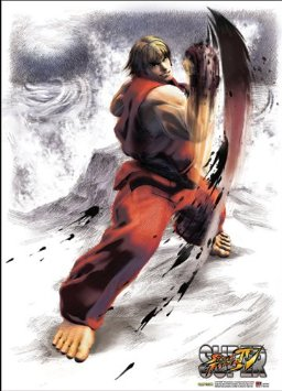 Street Fighter Fabric Poster (Ken Uppercut)
