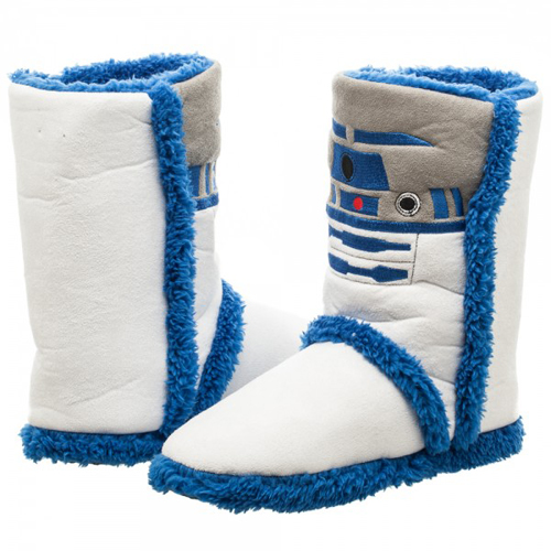 Star Wars Womens R2D2 Boot Slippers (Medium)
