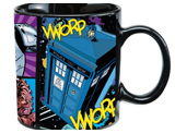 Doctor Who Dangerous Creatures Black Base 20oz Ceramic Mug