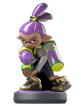 amiibo Inkling Boy Purple Splatoon