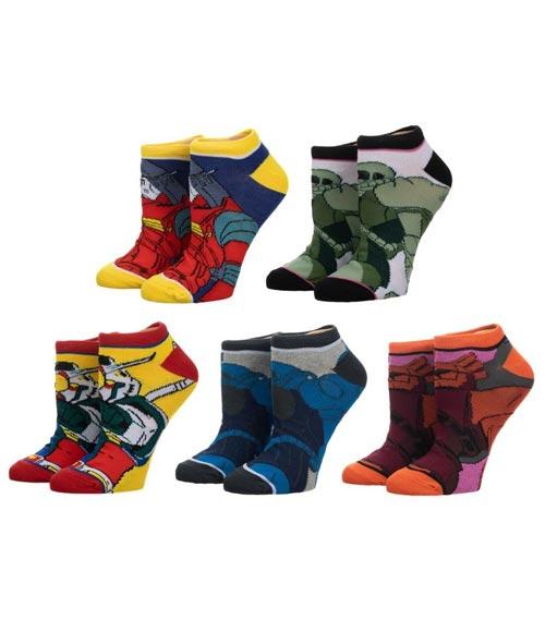 Mobile Suit Gundam Ankle Socks 5 Pack
