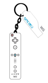 Wii Remote Controller PVC Keychain