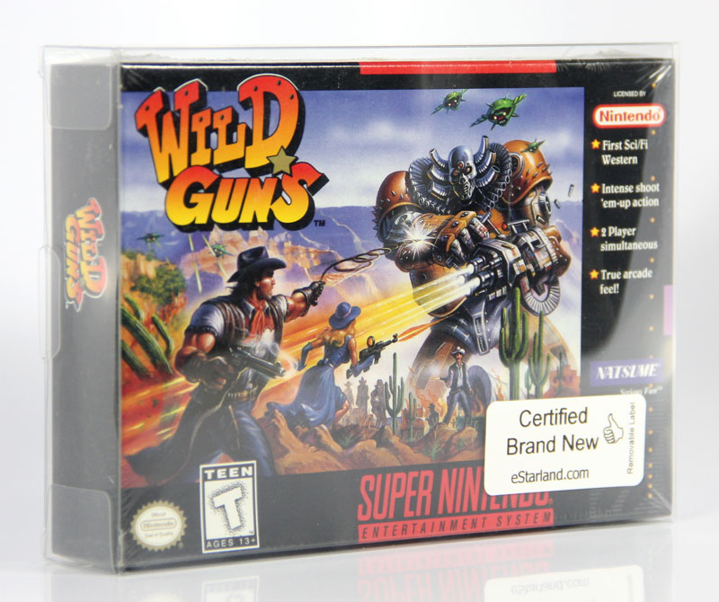 Extremly rare factory sealed brand new SNES Wild Guns is available