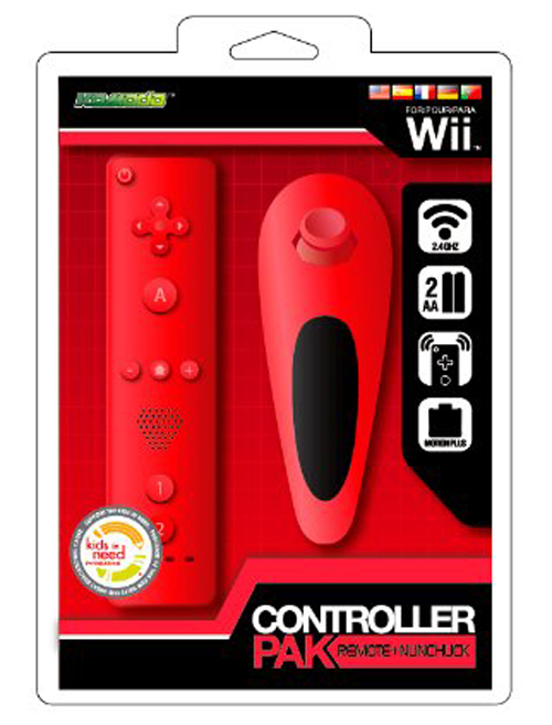 Wii Remote & Nunchuk Combo (Red)