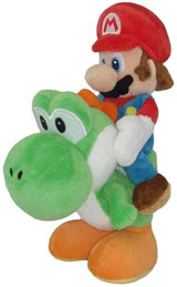 Nintendo Super Mario Riding on Yoshi 8 Inch Plush