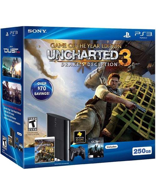 Sony PlayStation 3 Super Slim 250GB Uncharted 3: GOTY Bundle
