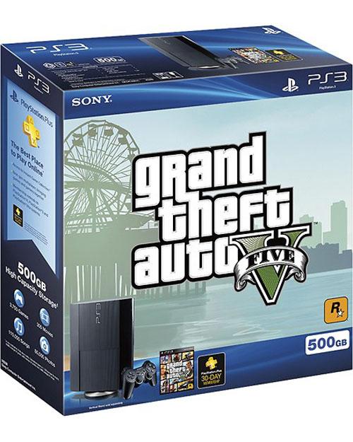 Sony PlayStation 3 Super Slim 500GB Grand Theft Auto V System Bundle