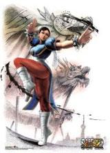 Street Fighter: Chun-Li Fabric Poster