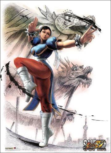 Street Fighter Fabric Poster Chun Li