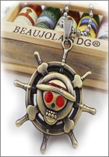 One Piece: Ship Wheel Skull Necklace