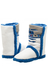 Star Wars Womens R2D2 Boot Slippers (Large)