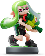 amiibo Inkling Girl Green Splatoon