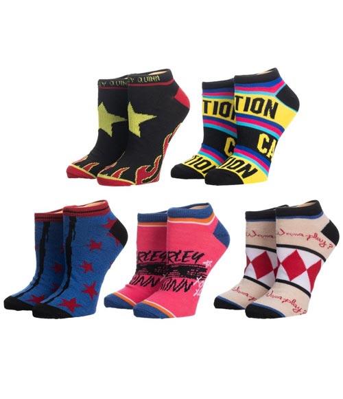 Birds of Prey Harley Quinn Ankle Socks 5 Pack