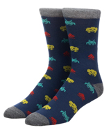 Space Invaders All Over Print Crew Socks