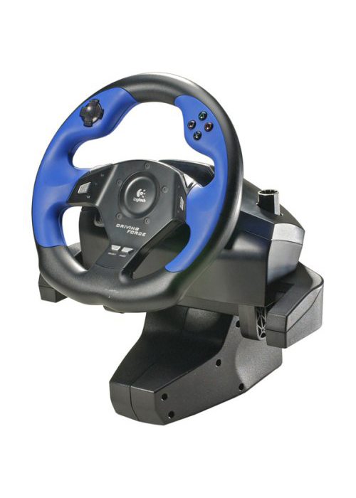 PS2 Driving Force Steering Wheel by Logitech