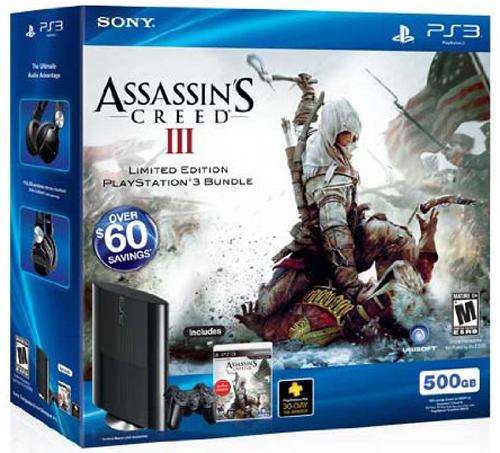 Sony PlayStation 3 Super Slim 500GB Assassin's Creed III Bundle