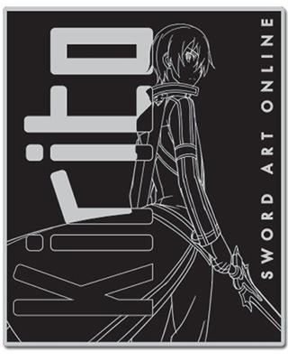 Sword Art Online Kirito Line Art Throw Blanket