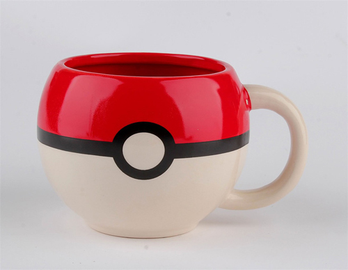 Pokemon Pokeball Molded Coffee Mug