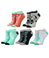 Legend of Zelda Link's Awakening Ankle Socks 5 Pack