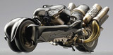 Final Fantasy Mechanical Arts: Cloud Strife's Fenrir Motorcycle Statue