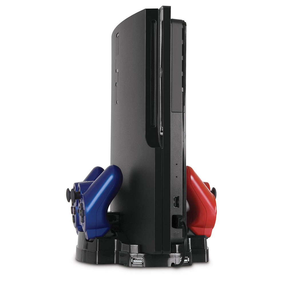 PlayStation 3 Slim Dual Charge Dock Vertical Stand