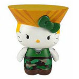 Sanrio x Street Fighter Keychain Guile