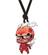 Attack on Titan: Colossal Titan Wooden Chibi Necklace