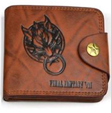Final Fantasy VII Fenrir Logo Brown Wallet with Button