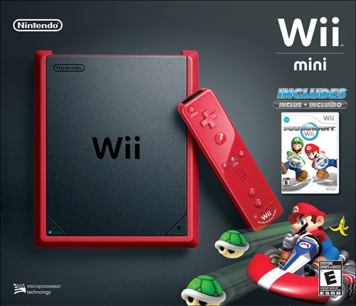 Nintendo Wii Mini Console with Mario Kart Wii