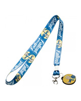 Fallout Blue Vault Boy Lanyard with Charm
