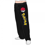 Pokemon Poke Ball Black Sleep Pants Small