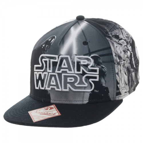 Star Wars Black/White Sublimated Character Snapback