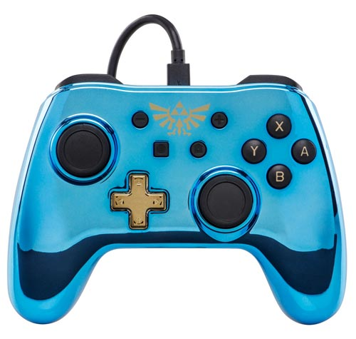 Nintendo Switch Wired Controller Plus: Chrome Legend of Zelda Edition