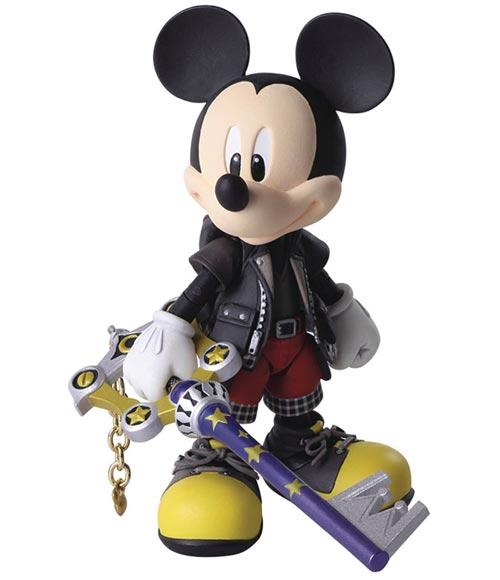 Kingdom Hearts III: Bring Arts King Mickey Action Figure