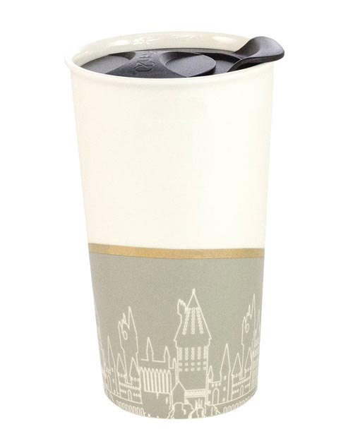 Harry Potter: Hogwarts Gray & White Ceramic Tumbler