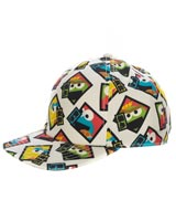 Sesame Street Muppets All Over Print Pre-Curved Snapback Hat