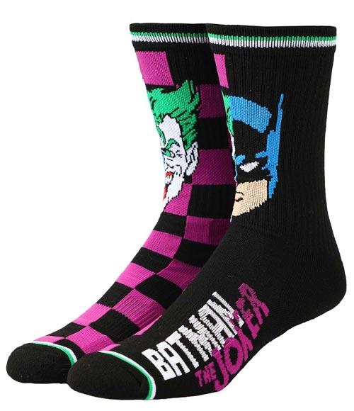 DC Comics Batman & Joker Split Crew Socks
