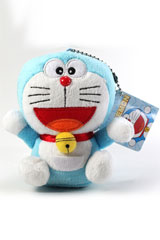Doraemon 4 Inch Plush Keychain Blue