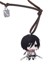 Attack on Titan: Mikasa Wooden Chibi Necklace