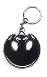 Star Wars Rebel Symbol Black Gunmetal Keychain