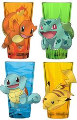 Pokemon Pint Glass Character Set of 4