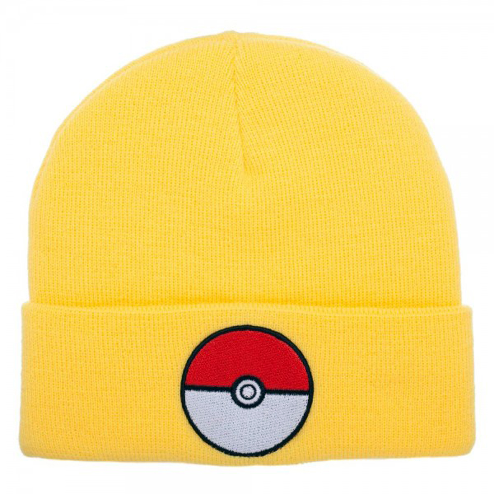 Pokemon Pokeball Yellow Cuff Beanie
