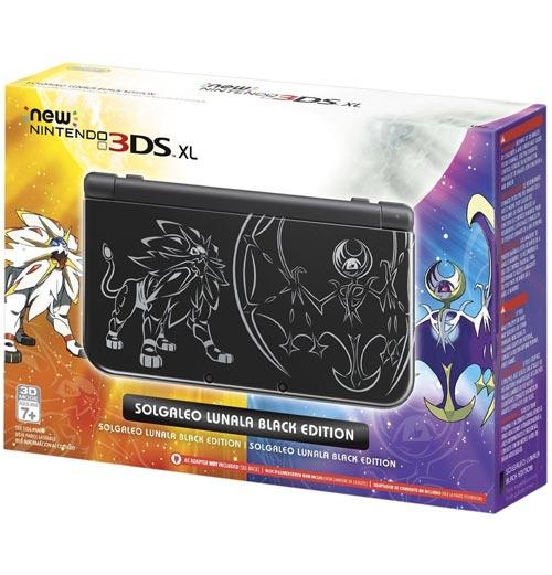 Nintendo 3DS XL System Pokemon Sun and Moon Solgaleo Lunala Black Edition
