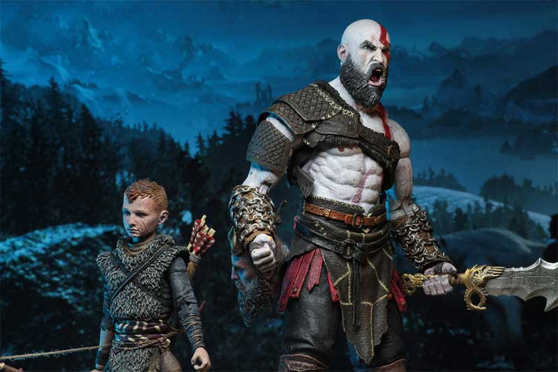 God of War 2018 Ultimate Kratos Atreus AF display showcase