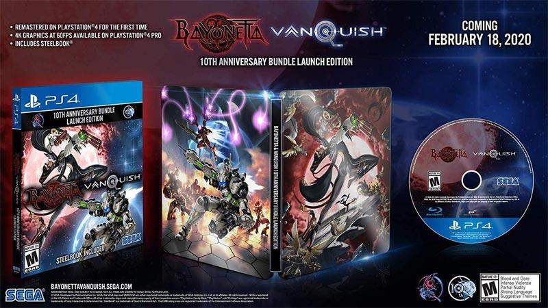 PS4 Bayonetta Vanquish 10th Anniversary Bundle Launch Edition steelbook case
