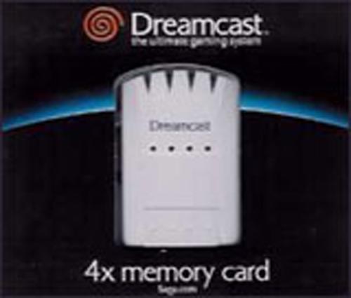 Dreamcast 4X Memory Card by Sega